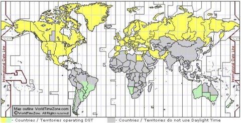 Karta Vremenske Zone Karta